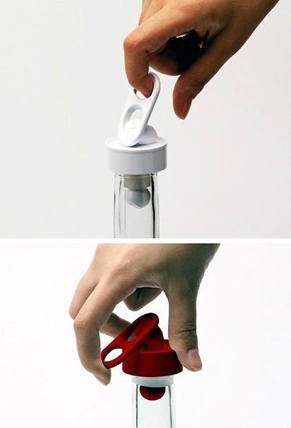 拉环式创意红酒瓶塞设计